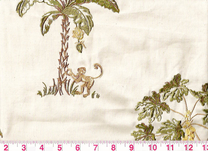 Monkey Business CL Jungle Upholstery Fabric by Braemore Textiles