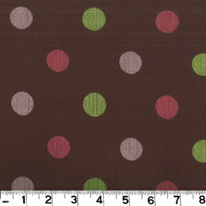 Roth & Tompkins Disco / Chocolate Drapery Upholstery Fabric