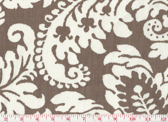 Julian Oxford CL Mocha Drapery Upholstery Fabric by Braemore Textiles