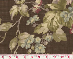 Spring Bloom CL Bronze Upholstery Fabric by Braemore Textiles