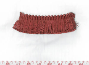 Domino Brushed Fringe CL Rose Petal Fabric Trim by Clarence House