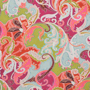 Esmeralda Paisley CL Magenta Drapery Upholstery Fabric by Clarence House