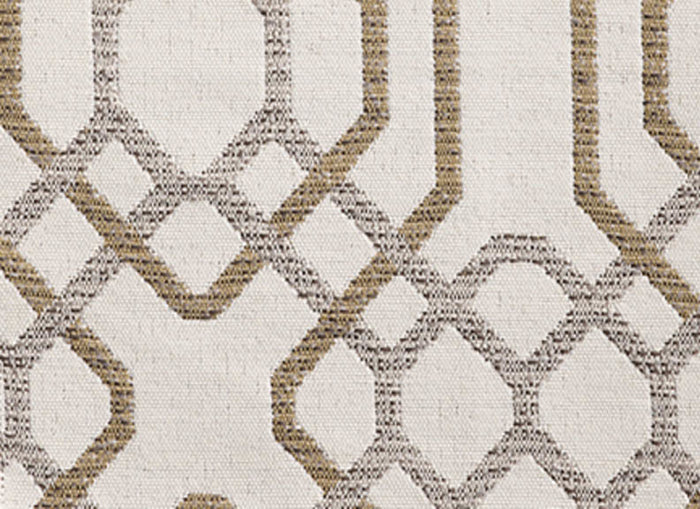 Alexandria CL White - Sand Indoor Outdoor Upholstery Fabric by Bella Dura