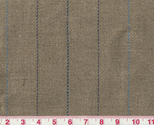 Olympic Stripe / Flax-Plum Upholstery Fabric by P Kaufmann