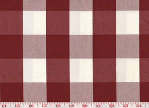 Squared CL Red Drapery Upholstery Fabric by Sheldon and Barnett