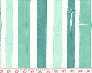 Bamboo CL Turquoise Drapery Upholstery Fabric by P  Kaufmann