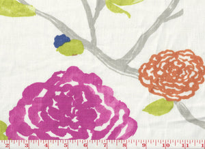 Yoshino CL White Tea Drapery Fabric by Braemore Textiles