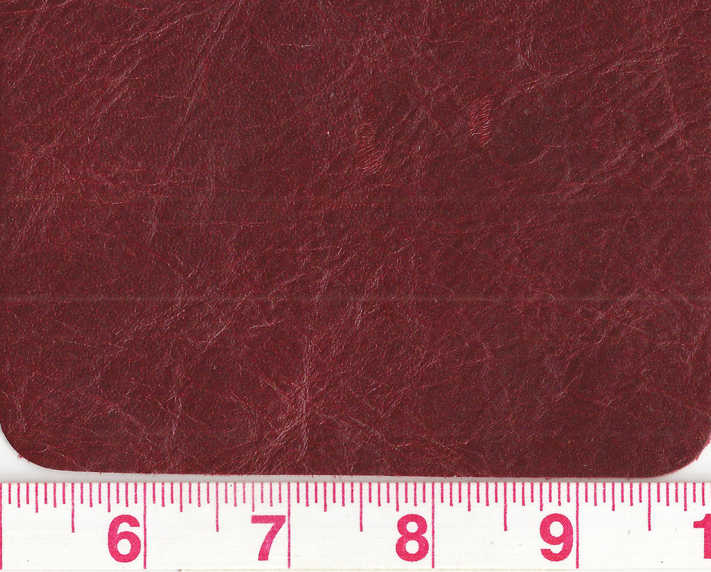 Madeira CL Deep Red Bovine 50 sf Leather Hide