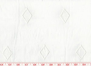 Applique Embroidered Diamonds Organdy Sheer CL White on White Drapery Fabric by Roth Fabric