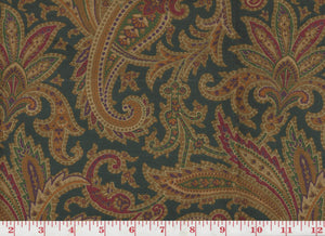 Whittington Paisley CL Peacock Upholstery Fabric by Ralph Lauren