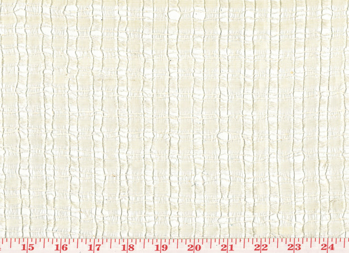 Silk Open Weave Sheer CL Beige Drapery Fabric by Roth Fabric