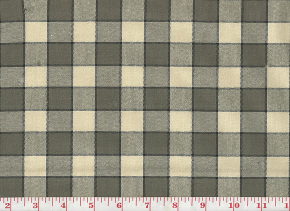 Hanover Plaid CL Graphite Upholstery Fabric by PK Lifestyles
