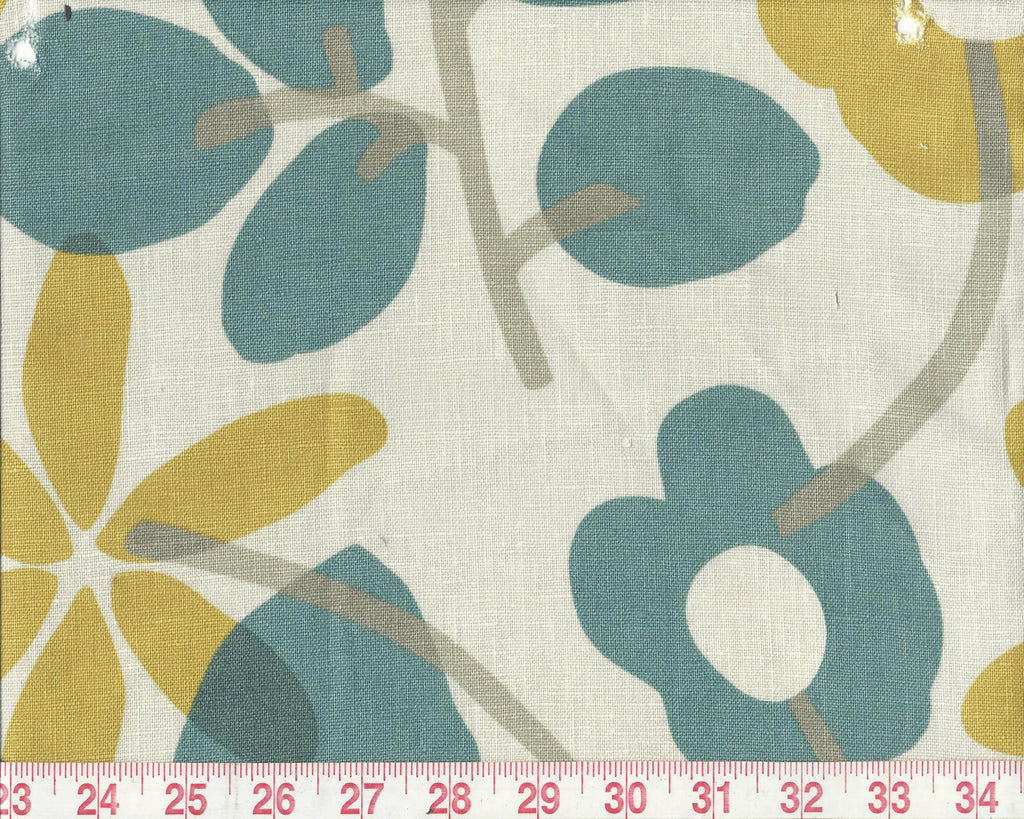 Nathalie CL Teal Upholstery Fabric by Braemore