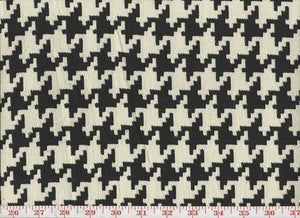 Large Houndstooth CL Black - Ivory Upholstery Fabric by Roth & Tompkins