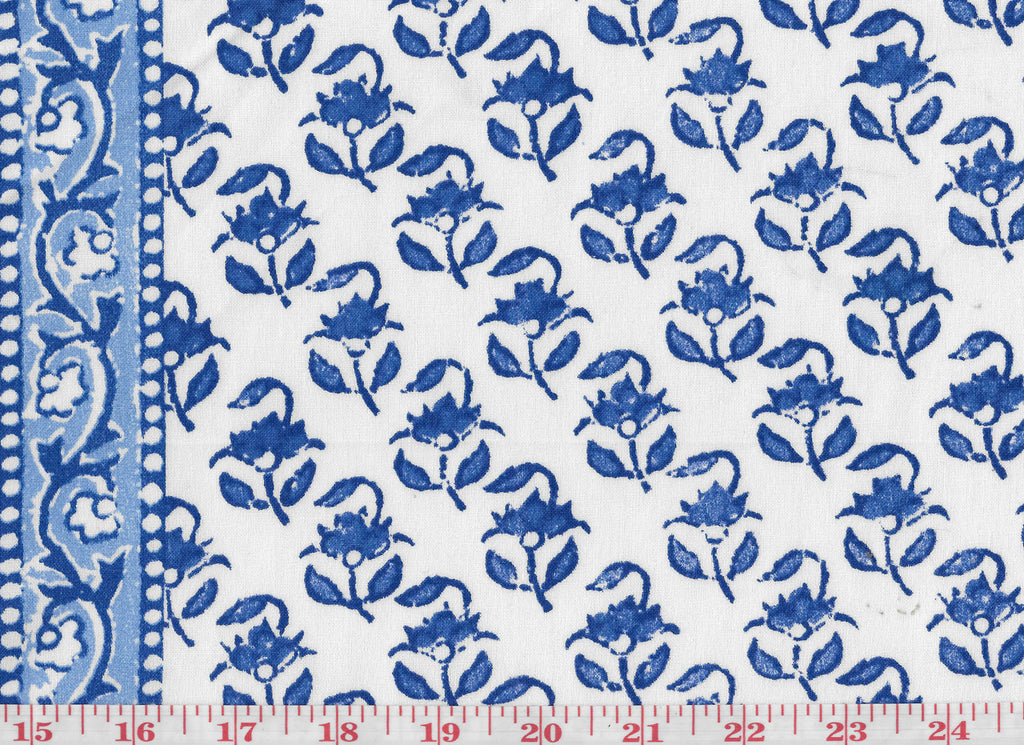 Lou Lou CL Cobalt Drapery Fabric by Hill Brown