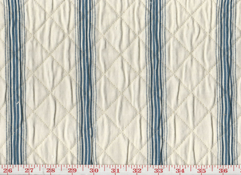 Redford Stripe CL Indigo Matelasse Upholstery Fabric by Roth & Tompkins