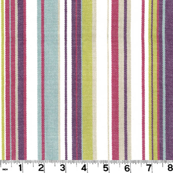 Victoria CL Mulberry Stripe Upholstery Fabric by Roth & Tompkins