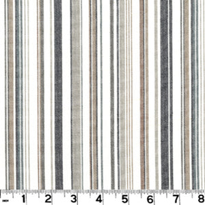 Hilary Stripe CL Charcoal Drapery Upholstery Fabric by Roth & Tompkins
