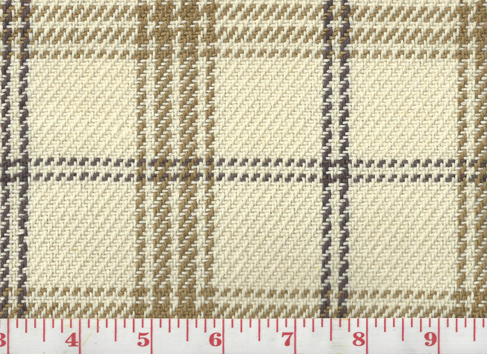 Judd Check CL Neutral Upholstery Fabric by Clarence House