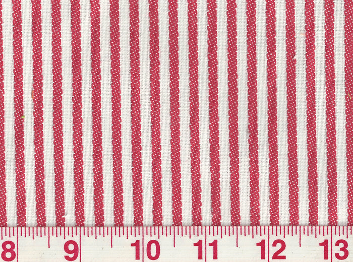 Good Lookin' Stripe CL Melon Upholstery Fabric by P Kaufmann