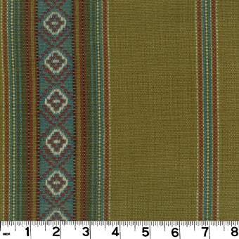 Sandoval Serape CL Maize Drapery Upholstery Fabric by Roth & Tompkins