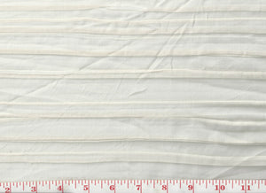 Pleated Sheer CL Off White Drapery Fabric by Clarence House