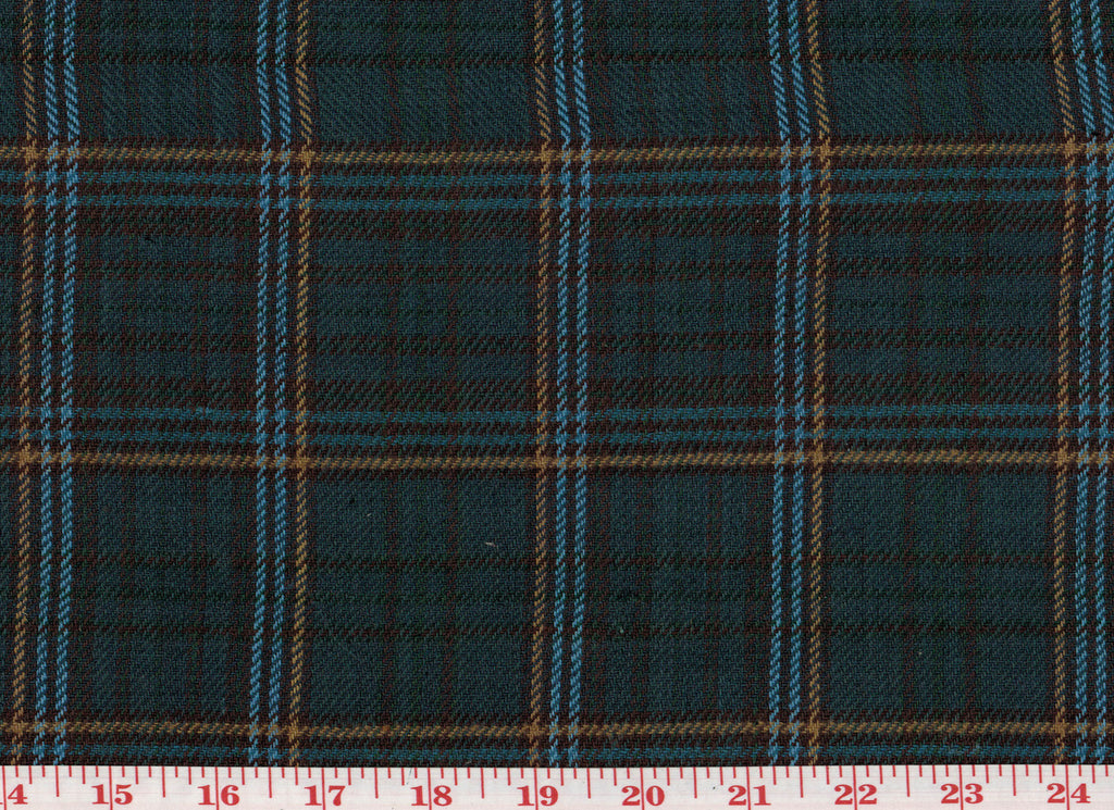 Cooper Plaid CL Blue Tartan Wool Upholstery Fabric by Roth Fabric