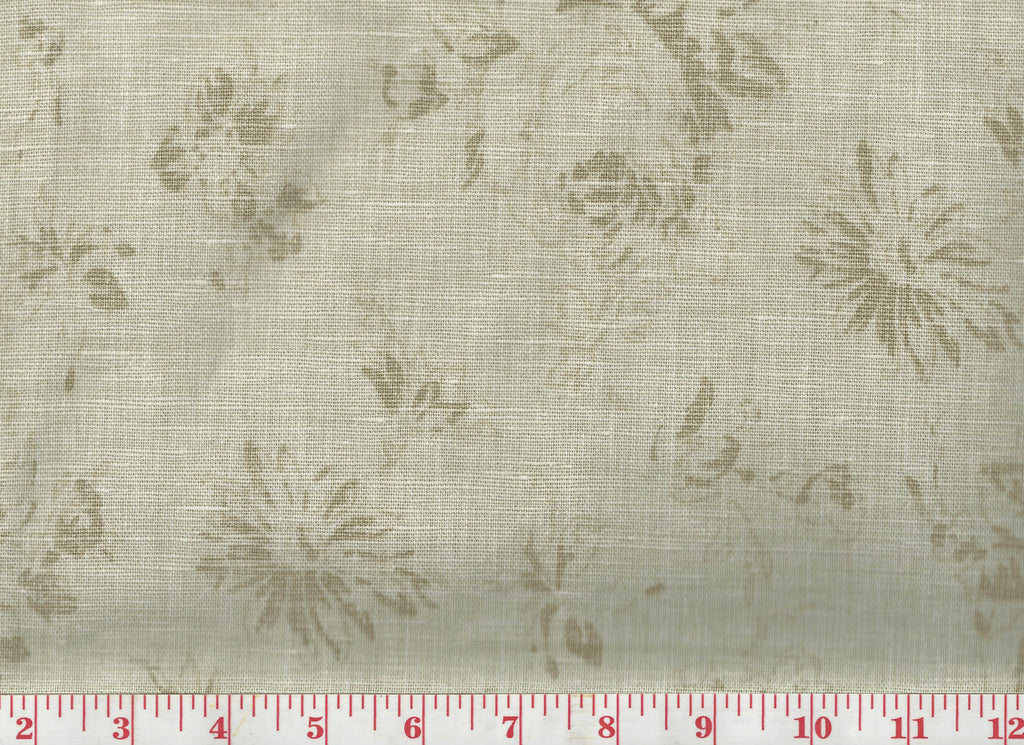 Fairdale LInen Floral CL Tea Upholstery Fabric by Ralph Lauren Fabrics