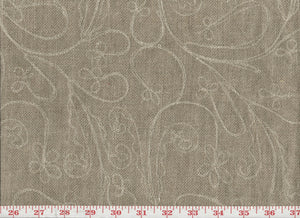Dublin Embroidery Drapery Upholstery Fabric by Roth & Tompkins