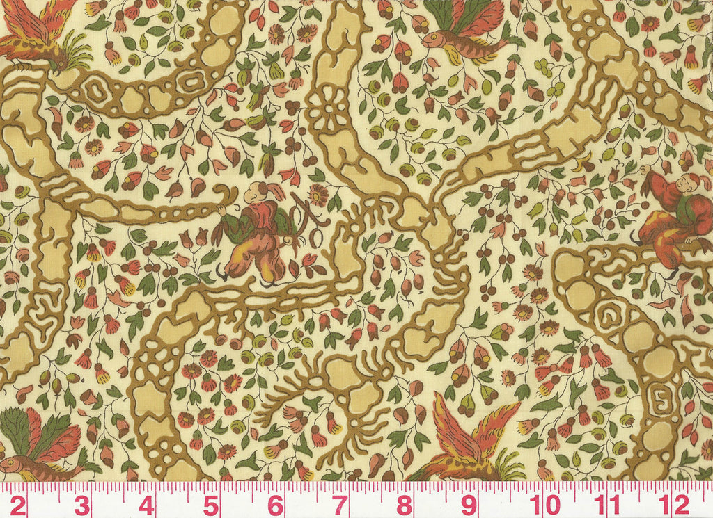 Peking CL Teastain Drapery Upholstery Fabric by Vervain
