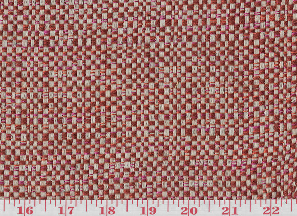 Hemp Texture  CL Ruby Upholstery Drapery Fabric by American Silk Mills