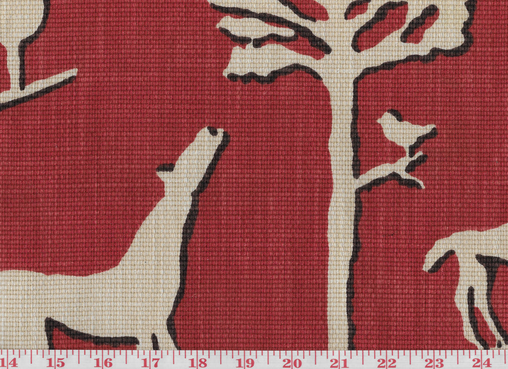 Jungle Walk CL Cardinal Drapery Upholstery Fabric by Braemore Textiles