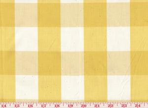 Squared CL Lemon Drapery Upholstery Fabric by Sheldon and Barnett