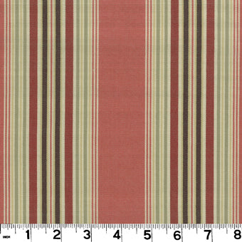 Sanibel CL Nantucket Red Drapery Upholstery Fabric by Roth & Tompkins