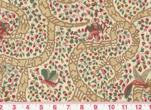 Peking CL Cranberry Drapery Upholstery Fabric by Vervain