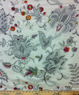 Baroque CL White Upholstery Fabric by Edinburgh Weavers