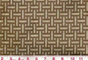 Palatine CL Brown Upholstery Fabric by Clarence House