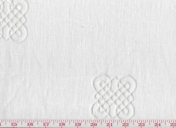 Universe CL Ivory Sheer Drapery Fabric by Braemore Textiles