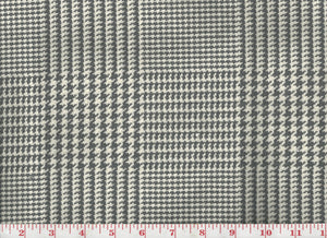 Houndstooth Plaid CL Grey Upholstery Fabric by Clarence House