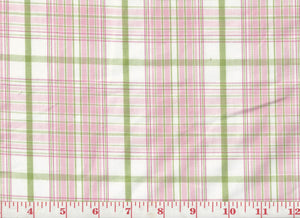 Taffeta Plaid CL Pink Drapery Upholstery Fabric by Roth & Tompkins