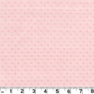 Swiss Dot CL Pink Drapery Fabric by Roth & Tompkins