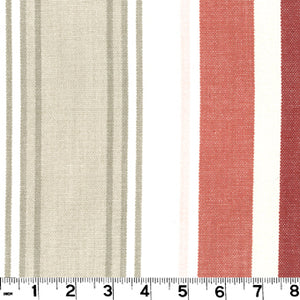 Bridgewater CL Cranberry Upholstery Fabric by Roth & Tompkins
