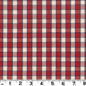 Branford Check CL Red Upholstery Fabric by Roth & Tompkins