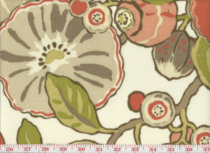 Hip Floral CL Sorbet Outdoor Upholstery Fabric by P Kaufmann