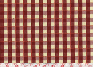 Picnic Check CL Red Drapery Upholstery Fabric
