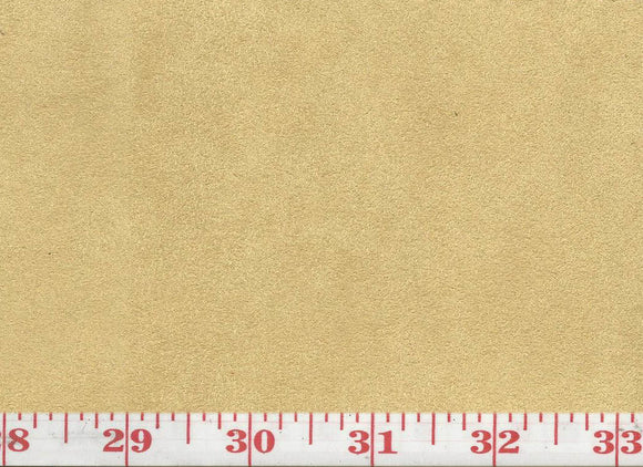 GEM 14 Suede CL Custard Upholstery Fabric by KasLen Textiles