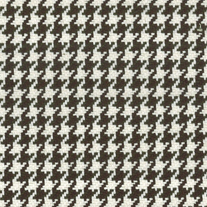Houndstooth CL Chocolate Upholstery Fabric by Roth & Tompkins