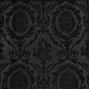 Abbeywood Velvet Damask CL Onyx Upholstery Fabric by Ralph Lauren