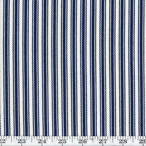 Al Fresco Tic CL Navy Indoor Outdoor Upholstery Fabric by Bella Dura
