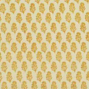 Allie Blockprint CL Goldenrod Drapery Upholstery Fabric by Ralph Lauren